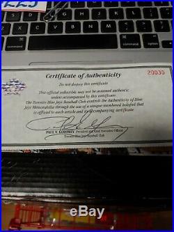 Mike Timlin 1996 Toronto Blue Jays Game Worn Jersey W Paul Godfrey Signed COA