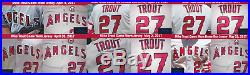 Mike Trout Los Angeles Angels Game Used Worn Jersey 6 HRs, MLB Auth Photo Match