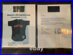 Mookie Betts 2015 game worn used baseball jersey. Photomatched