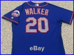 NEIL WALKER size 46 #20 2017 New York Mets game used jersey road blue MLB HOLO