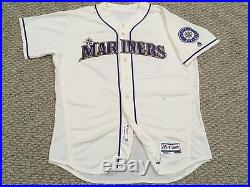NELSON CRUZ #23 size 52 2017 Mariners Home Cream game used jersey 40TH MLB