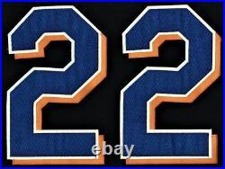 NEW YORK METS AL LEITER #22 BLACK BUTTON-DOWN MLB Size 48 2003 JERSEY