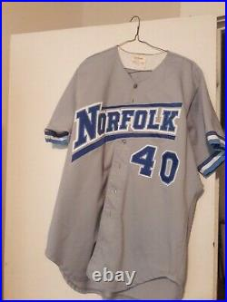 NY METS 1994/1995 AAA Norfolk Tides Game Used Jersey Jacome, Cornelius TEAM COA