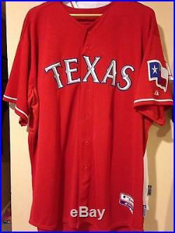 Nelson Cruz Game Used Rangers Jersey MLB Authenticated