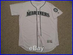 Nelson Cruz size 52 #23 2016 Seattle Mariners game jersey issued Home White MLB