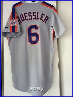 New York Mets Game Worn 1986 TBTC Road Jersey Size 44
