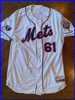 New York Mets Team Issued Jersey Gary Carter Patch Size 48