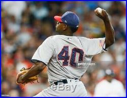 New York Yankees Luis Severino Fourth Of July Game Worn Used Jersey MLB Rare