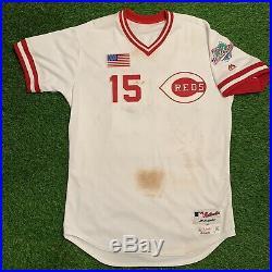 Nick Senzel Cincinnati Reds Game Used Worn Jersey 1990s TBTC Style MLB Auth