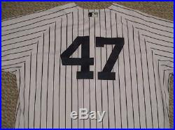 Nova #47 sz 50 2016 Yankees Game Used Jersey HOME Berra patch Steiner MLB holo