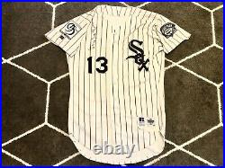 OZZIE GUILLEN home CHICAGO WHITE SOX GAME WORN JERSEY used SIGNED 1995