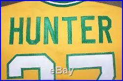 Oakland A's Jim Catfish Hunter Tribute Jersey Game Worn McAuliffe Jersey