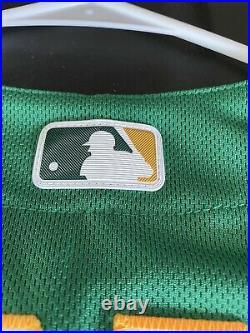 Oakland Athletics 2018 Game Issued Jersey Size 44 Jonathon Lucroy Kelly Green