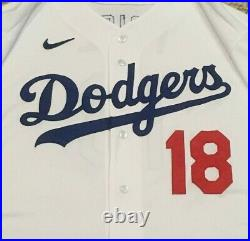 PRICE size 50 #18 2020 Los Angeles Dodgers home game jersey ALL STAR PATCH MLB