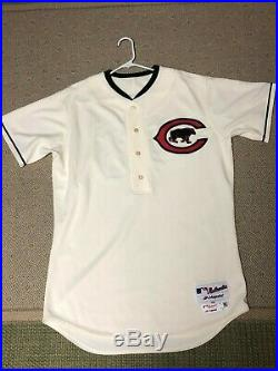 Pedro Strop GAME USED Chicago Cubs 2016 1916 Throwback Jersey MLB Authentic
