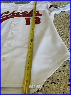 Peoria Chiefs GAME USED JERSEY St Louis Cardinals Minor League