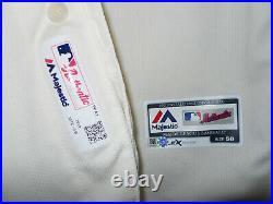Philadelphia Phillies 2019 Game Used Alternate Creme Jersey size 50 Cozens