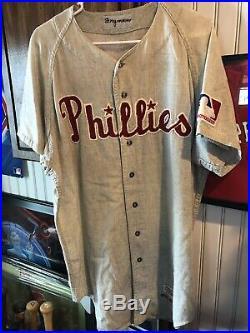 Phillies Game Used/ Worn 1969 Woddy Fryman Jersey ORIGINAL