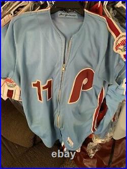 Phillies Game Used/ Worn 1984 Ivan Dejesus Jersey