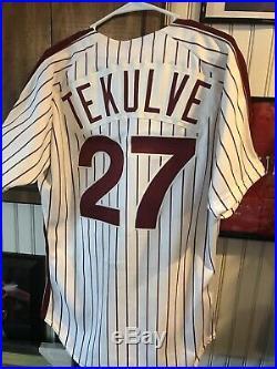 Phillies Game Used/ Worn 1991 Kent Tekulve Jersey