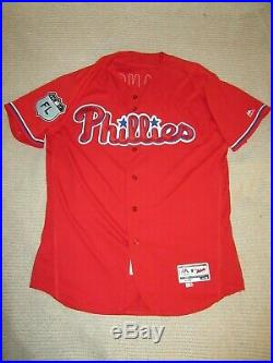 Phillies Maikel Franco Game Used Issued Signed 2017 Spring Training Jersey