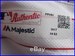 Phillies Matt Stairs Game Used 2017 Home Jersey MLB COA
