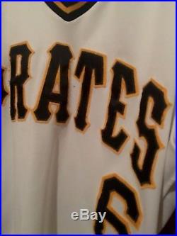 Pittsburgh Pirates Game Worn Baseball Jersey R. Belliard WithCOA