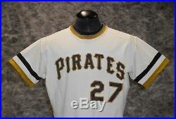 Pittsburgh Pirates, Vintage 1971-72 Game Used / Worn Home Jersey. Bob Johnson