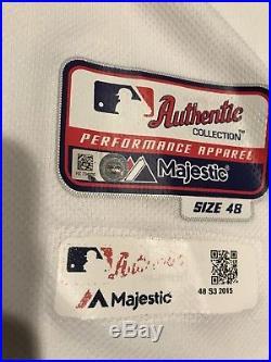 Preston Tucker Rookie 2015 Game Used Worn Houston Astros Jersey MLB Hologram