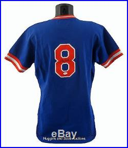 RARE GARY CARTER 1985 NEW YORK METS GAME USED SIGNED JERSEY MIEDEMA + JSA COA