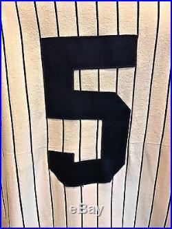 Rare Sand-knit Ny Yankees Joe Dimaggio #5 Baseball Game Jersey