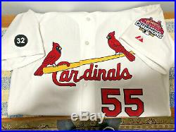 RARE Skip Shumaker GAME USED JERSEY St Louis Cardinals 2006 WS Patch