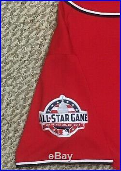 ROARK size 48 #57 2018 Washington Nationals GAME USED jersey ALT RED MLB HOLO