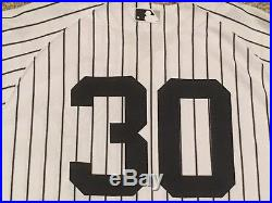 ROBERTSON #30 sz 46 2017 Yankees Game Jersey KNIT HOME BLACK BAND POST STEINER