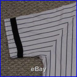 ROMINE #27 sz 46 2017 Yankees Game used Jersey HOME BLACK BAND POST STEINER MLB