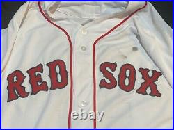 Rafael Devers 2019 Boston Red Sox Game Used Jersey LONDON SERIES with MLB Auth