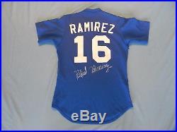 Rafael Ramirez 1985 Atlanta Braves game used jersey autographed