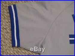 Randy Knorr #27 size 44 1993 Toronto Blue Jays Game used jersey Road Gray CHAMPS