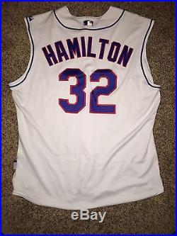 sale retailer 91887 87cb3 Rare 2008 Josh Hamilton Game Used Worn Texas Rangers Home ...
