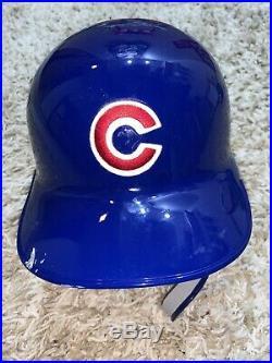 Rare 2018 Chicago Cubs Javier Baez El Mago Game Used C Flap Rawlings Helmet
