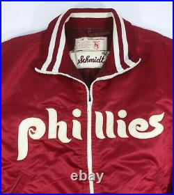 Rare Mike Schmidt Game Used Phillies Cold Weather Jacket Gifted To Pete Rose Jr