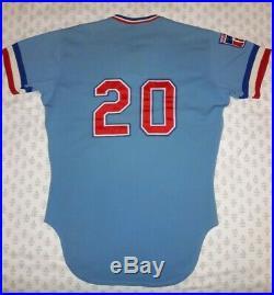 Rawlings 1979 Texas Rangers #20 Bob Babcock Game Used Worn Jersey Powder Blue