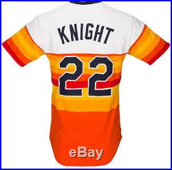 low priced 2d840 3eac9 Ray Knight 1984 Houston Astros Tequila Sunrise Game Used ...