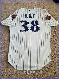 Robbie Ray Game used 20th Anniversary Jersey Arizona Diamondbacks MLB COA