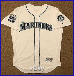 Robinson Cano MLB Holo Game Used Jersey HR 2017 Home Seattle Mariners