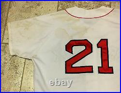 Roger Clemens Game Used Worn 1995 Boston Red Sox Home Jersey Unwashed Gem