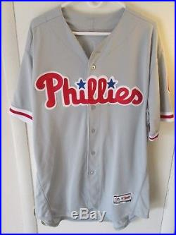Ryan Howard 2016 Game Used Worn Phillies Road Jersey MLB Authenticated ROY MVP