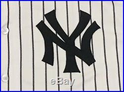 SABATHIA #52 sz 56 2018 Yankees Game used Jersey HOME POST SEASON STEINER MLB
