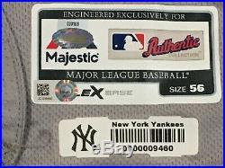 SABATHIA #52 sz 56 2018 Yankees Game used Jersey ROAD POST SEASON STEINER MLB