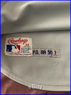 SID FERNANDEZ 1988 PLAYOFFS NY METS GAME WORN USED JERSEY Hawaii